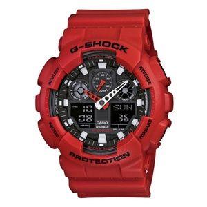 Casio G Shock Red GA100 sports watch NEW!